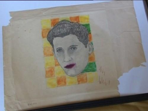 Портрет актера и певца Руди Вэлли, нарисованный королем поп-арта Энди Уорхолом