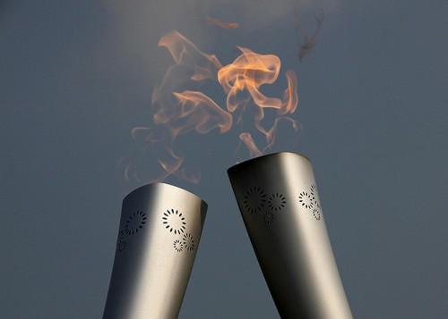 Эстафета олимпийского огня накануне Зимних игр 2014 года в Сочи