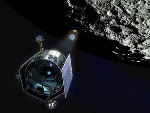 Космический аппарат LCROSS (Lunar Crater Observation and Sensing Satellite) стрелял в лунный кратер Кабеус