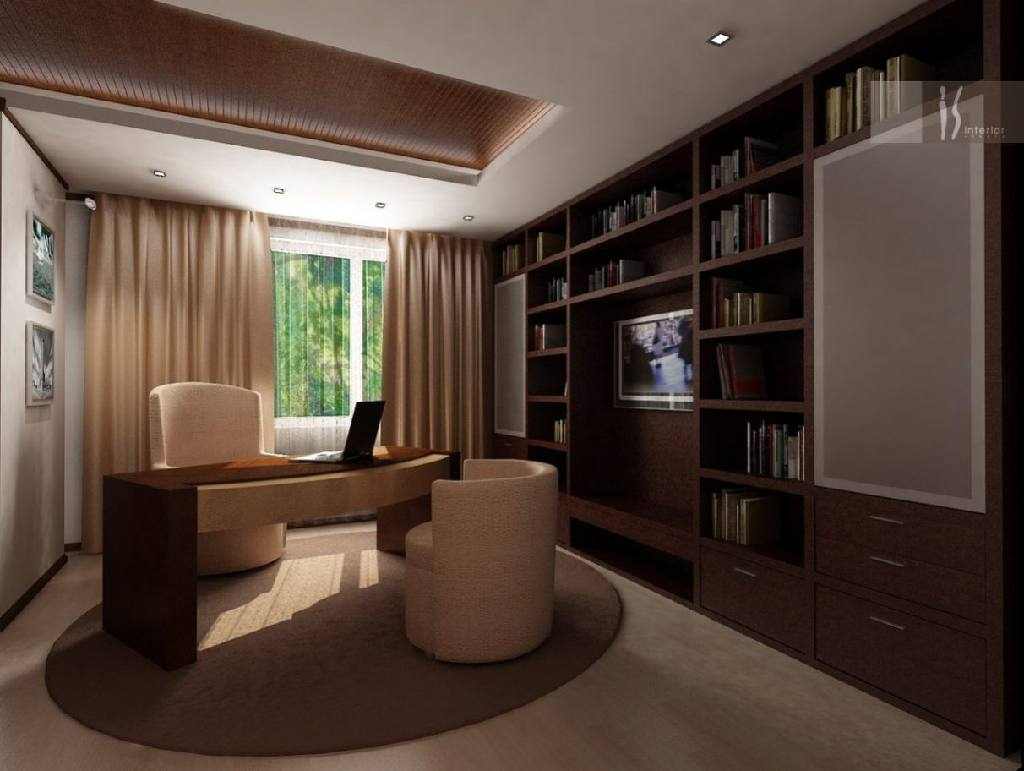 Кабинет дома интерьера