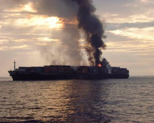 Пожар на индийском судне