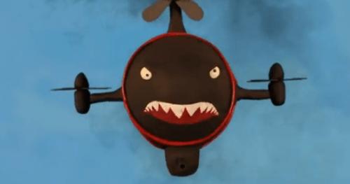 Вертолёт спереди