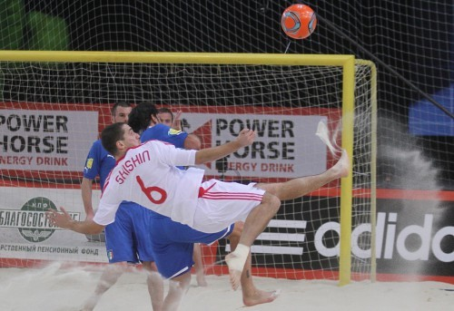 Russia - Italy. Euro Beach Soccer Cup Moscow 2012.