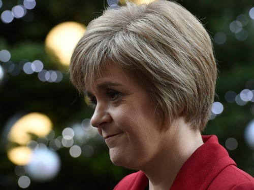 The First Minister of Scotland, Nicola Sturgeon, speaks to the media following meetings at 10 Downing Street in central London