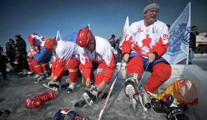 Хоккей на Байкале