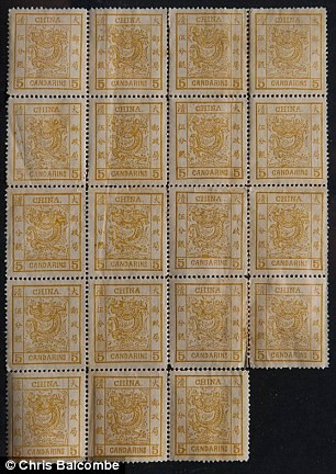 Не погашенные почтовые марки, найденные в Котсволдсе