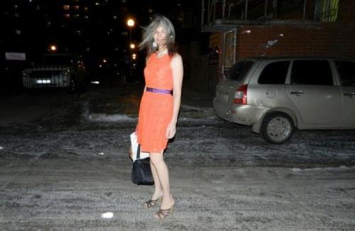 Ещё в платье