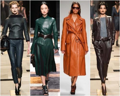 Мода 2016 – выбираем самое модное кожаное пальто