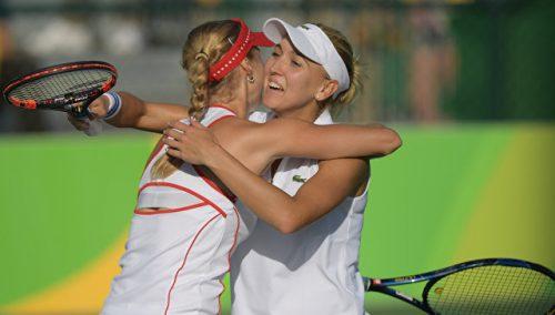 Русские теннисистки пробились вфинал Олимпиады впарном разряде