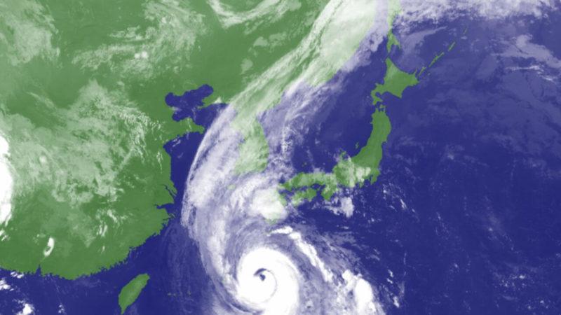 Движение нового тайфуна к Приморью
